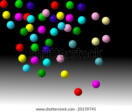 abstract image with lot of colored balls