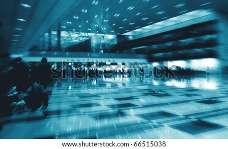 abstract immigration background conceptual image - stock photo