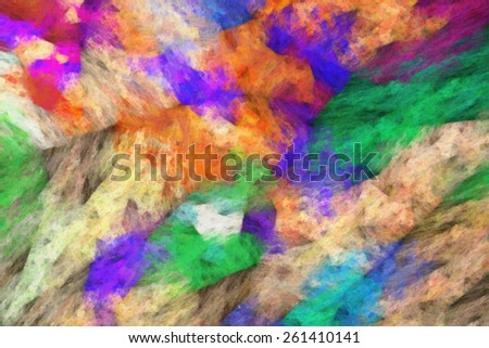abstract impressionist art work - brush strokes of oil painting on canvas - colorful abstract texture - stock photo