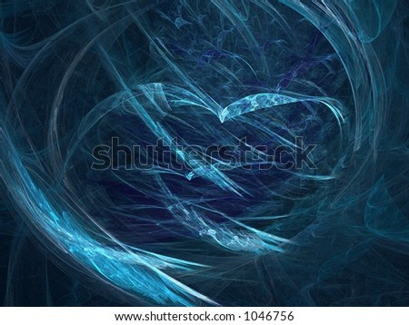 Abstract in blue, great depth and very suitable for web-use - stock photo