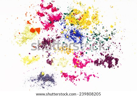 Abstract Indian dyes colorful background. - stock photo