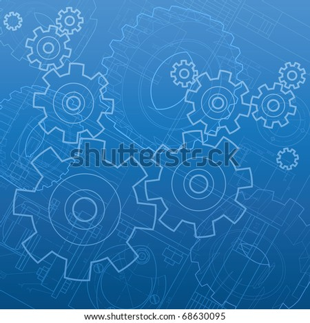 Abstract industrial background. Raster version. Vector version is also available. - stock photo