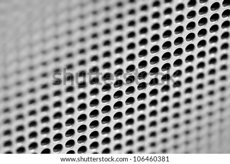 Abstract industrial grunge background - ventilation grille - stock photo