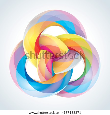 Abstract Infinite Loop Sign Template. Corporate Icon. EPS10 - stock photo