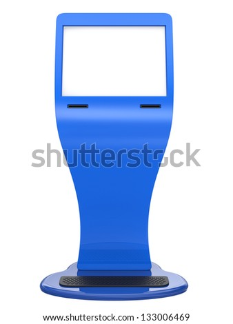 Abstract information terminal isolated on white background. - stock photo