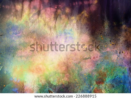 Abstract ink blot - digital edit painting background - stock photo