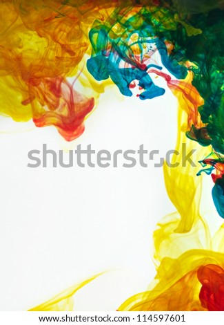 abstract ink in water - stock photo