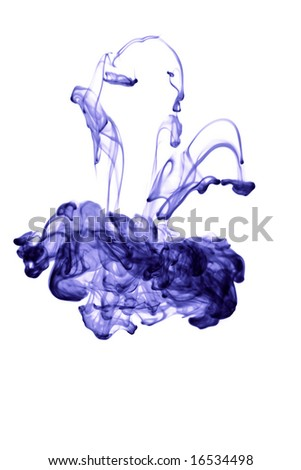 abstract ink in water isolated - stock photo