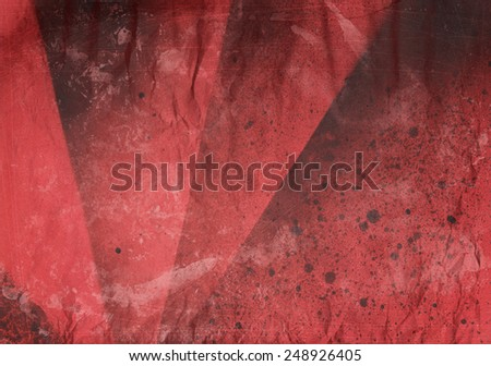 abstract ink painting with brush strokes and splatter - grunge background - stock photo