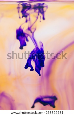 Abstract ink shapes - stock photo