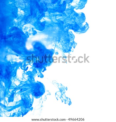 abstract ink squirted into water