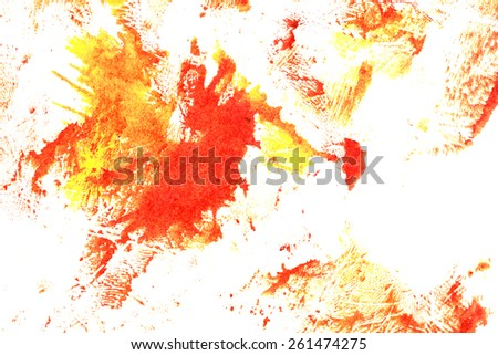 Abstract ink stains on white paper. Creative colorful design elements.