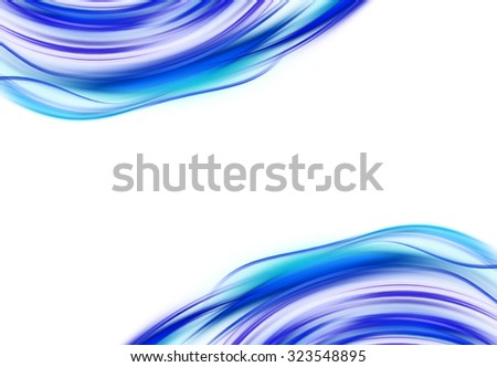 Abstract interaction elegant curves that transmit motion. Elements for your design - stock photo