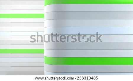 abstract interior background with horizontal plastic panels - stock photo