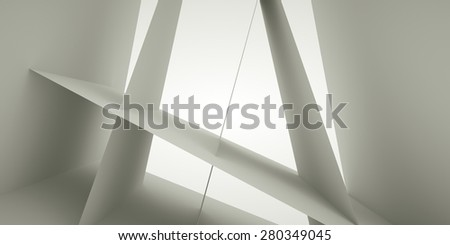 Abstract interior, 3 d render