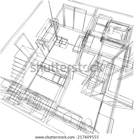 Drawing Apartment Plan 33780997 on 3d home architect design 6