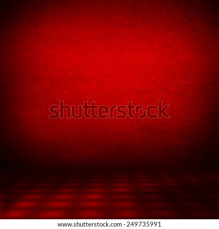 abstract interior wall background texture, red background - stock photo