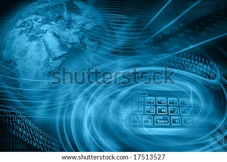 Abstract Internet Background - Mobile - stock photo