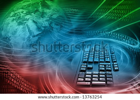 Abstract Internet Background With Colors - stock photo