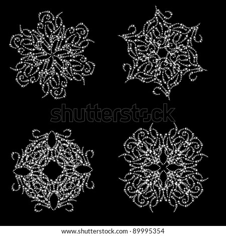 Abstract isolated snowflake. illustration. - stock photo