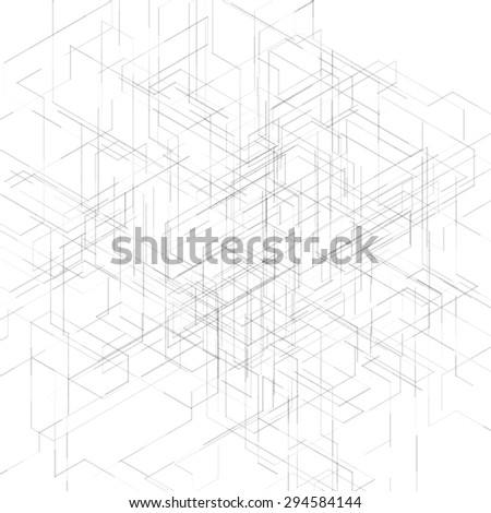 Abstract isometric computer generated 3 d blueprint stock abstract isometric computer generated 3d blueprint visualization lines background illustration for break through in technology malvernweather Choice Image