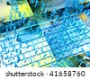 Abstract IT background - digits and keys. - stock photo