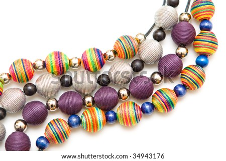 Abstract jewellery and beads background - stock photo