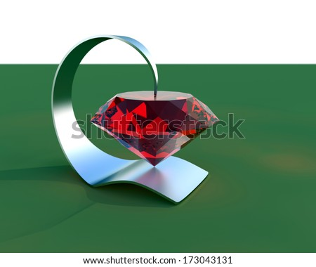Abstract Jewelry composition , 3d illustration - stock photo