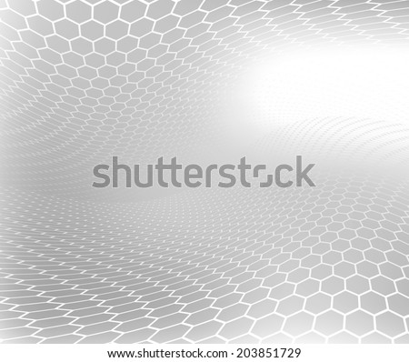 Abstract .jpg image of natural honeycomb swirl with black and white soft focus Background. - stock photo