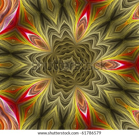 abstract  kaleidoscope background - stock photo