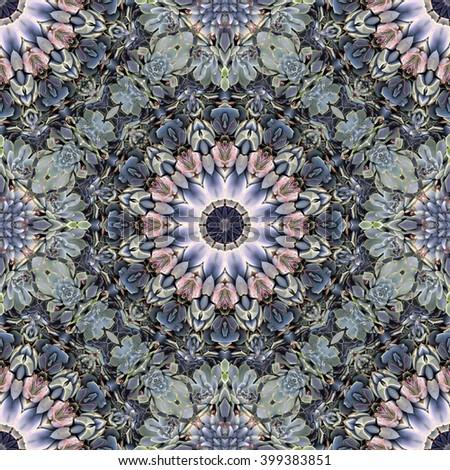 Abstract kaleidoscope background. Beautiful kaleidoscope seamless pattern. Multicolored mosaic texture. Seamless kaleidoscope texture. Unique kaleidoscope design. - stock photo