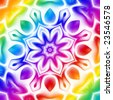 Abstract kaleidoscope flower in soft rainbow colors. - stock photo
