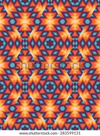 abstract kaleidoscope ~ seamless background - stock photo