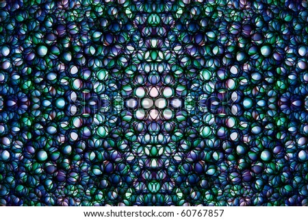 Abstract kaleidoscopical picture from multi-colored ringlets - stock photo