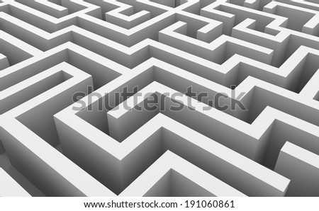 Abstract labyrinth - stock photo