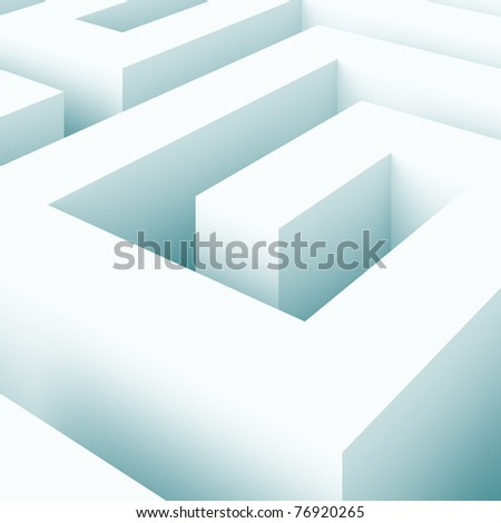 Abstract Labyrinth Background - stock photo