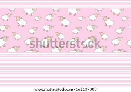 Abstract lamb background  illustration - stock photo