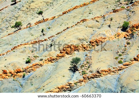 Abstract landscape in Atlas Mountains, Africa - stock photo