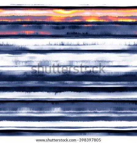 Abstract landscape motif. Seamless pattern. - stock photo