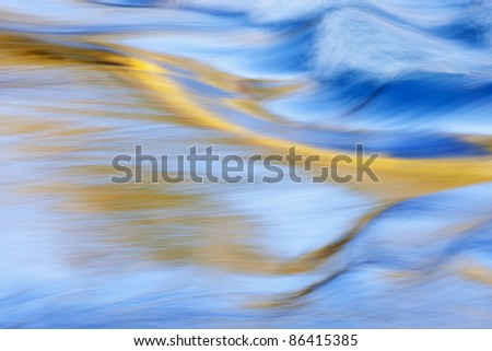 Abstract landscape of the Presque Isle River rapids captured with motion blur, Porcupine Mountains Wilderness State Park, Michigan's Upper Peninsula, USA