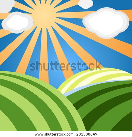 Abstract landscape. Raster version - stock photo