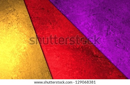 abstract layer background geometric shape pattern, bright colorful purple background red gold paper styled poster or banner, fun paint grunge background texture canvas, modern abstract art design - stock photo
