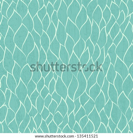 abstract leafs seamless pattern (raster version) - stock photo