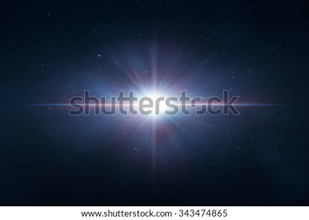 Abstract lens flare space or time travel concept background - stock photo
