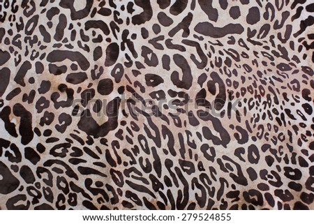 abstract leopard hair texture background - stock photo