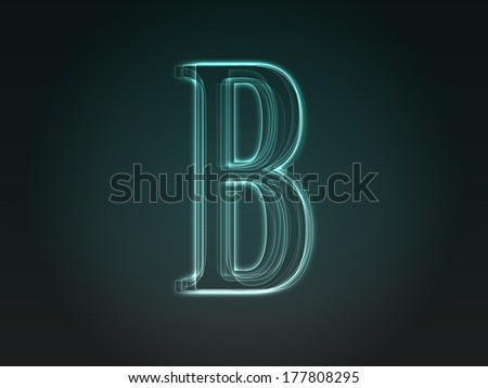 Abstract  letter B from the alphabet set - stock photo