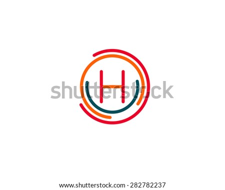 Abstract Letter H Logo Design Template Stock Illustration