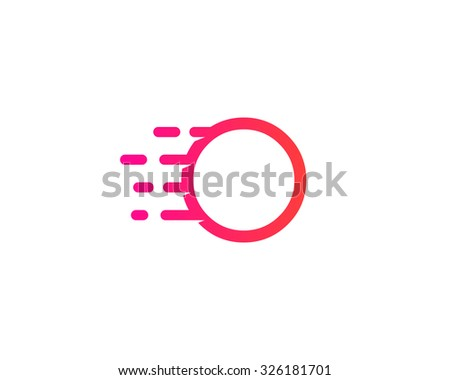 Abstract letter O logo design template.  Dynamic unusual line font. Universal fast speed fire moving water quick energy drop icon symbol mark. - stock photo