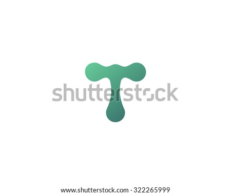 Abstract letter T logo icon design. Universal colorful symbol logotype for: biotechnology molecule atom dna chip medicine, science, technology, laboratory, delivery electronics. - stock photo