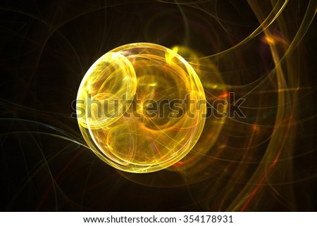Abstract light and energy fractal background